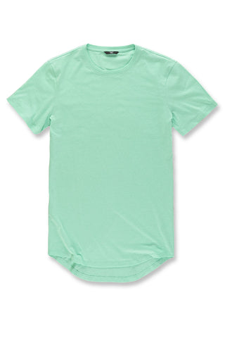 Melange Scallop T-Shirt (Mint)