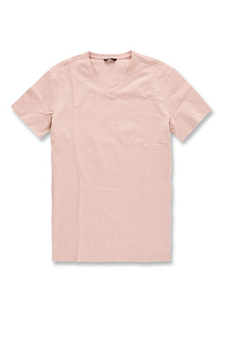 Premium V-Neck T-Shirt (Blush)