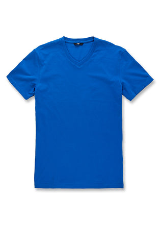 Premium V-Neck T-Shirt (Royal)