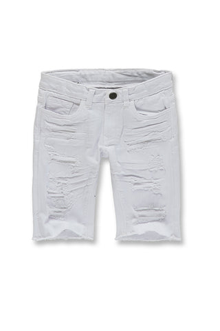 Kids Memphis Twill Shorts 2.0 (White)