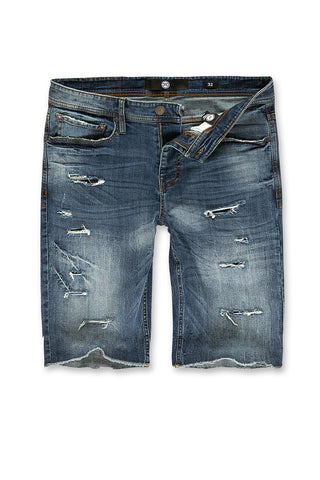 Jordan Craig - Big Men's Wynwood Denim Shorts (Studio Blue)