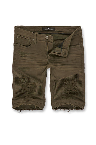 Jordan Craig - Big Men's Savior Biker Shorts 2.0 (Army Green)