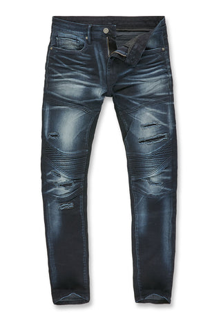 Jordan Craig - Aaron - Bergen Moto Denim (Midnight Blue)
