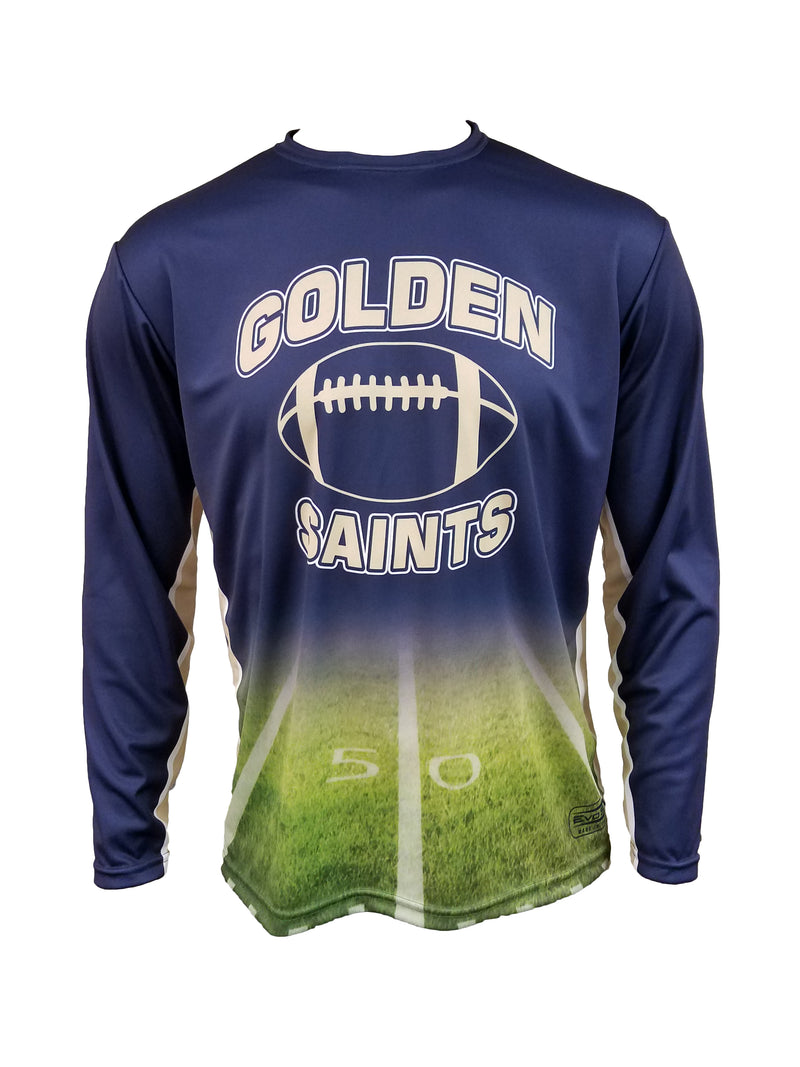 GOLDEN SAINTS SUBLIMATED LONG SLEEVE TEE