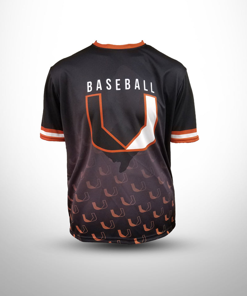 Full Dye Sublimated Short Sleeve Jersey BLK BASEBALL U