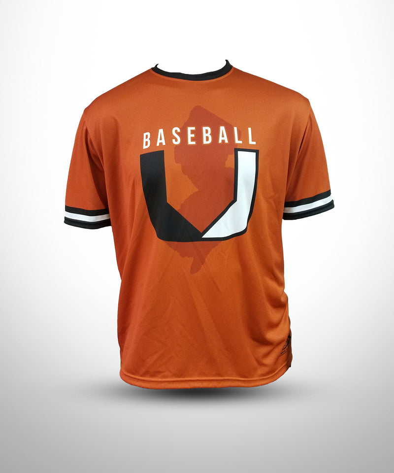 Full Dye Sublimated Short Sleeve Jersey ORG BASEBALL U