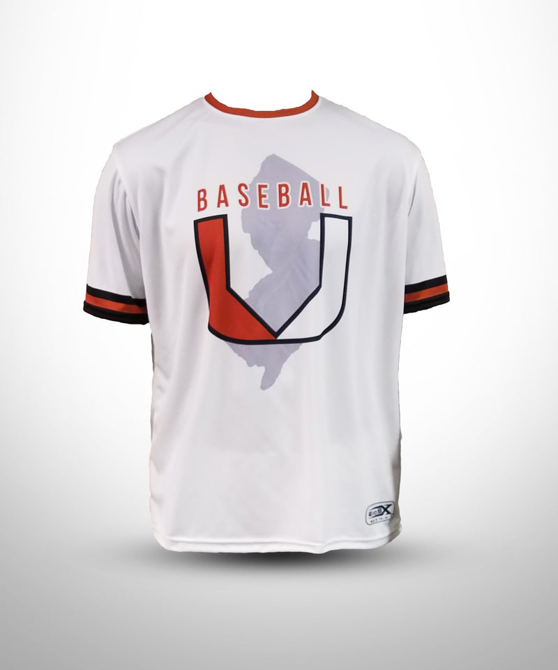 Full Dye Sublimated Short Sleeve Jersey WHT BASEBALL U