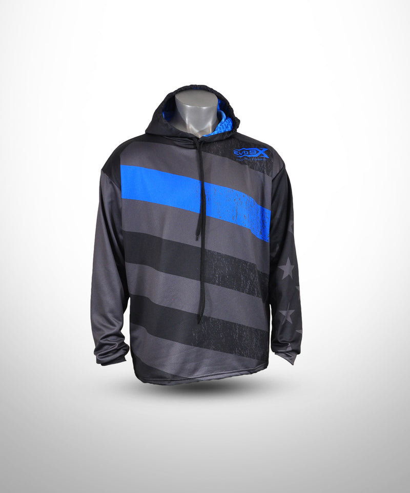 Full Dye Sublimated Hoodie BLU STRP BLUE LIVES
