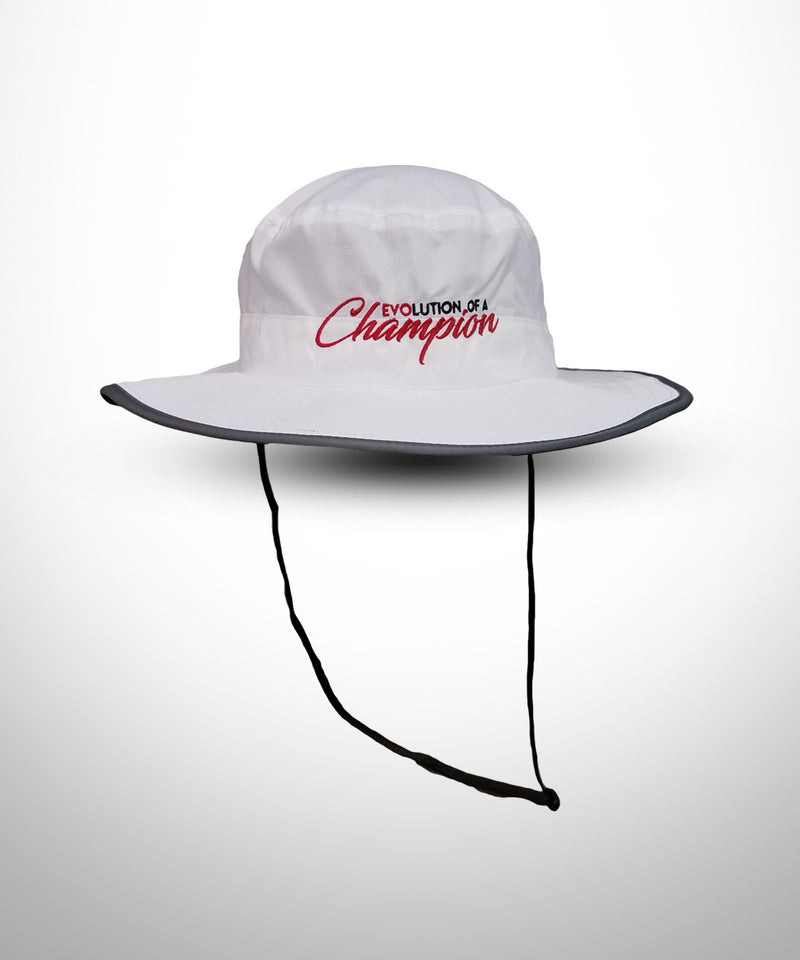 Wide Brim Bucket Hat White - Evo9x Store