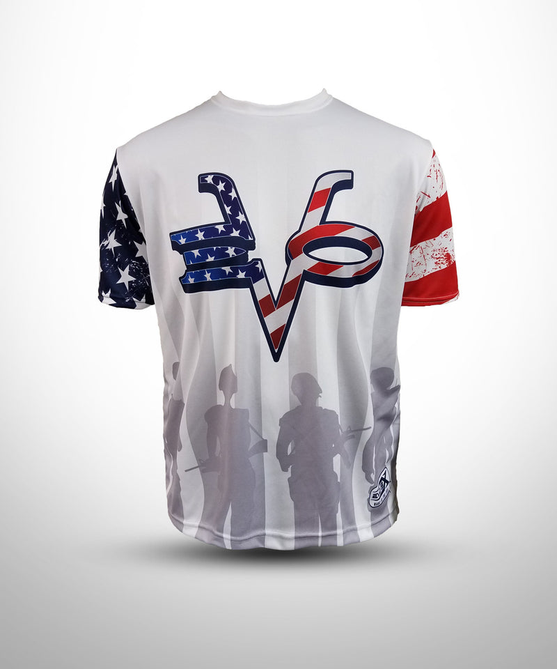 Full Dye Sublimated Short Sleeve Jersey WHT PAT
