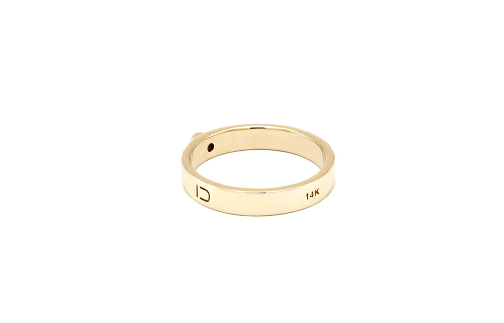 BAGUE OR BLANC 14K - DIAMANT 2MM - LISA