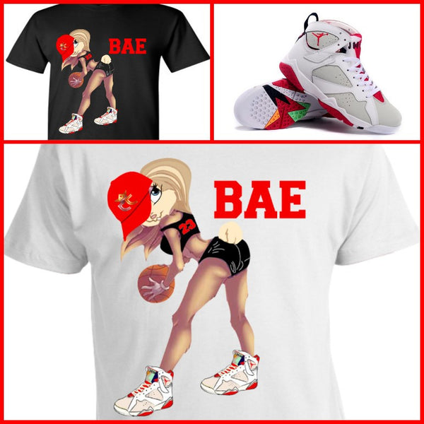"EXCLUSIVE SHIRT to match the NIKE AIR JORDAN 1 or 7 HARES! ""LOLA IS BAE"""