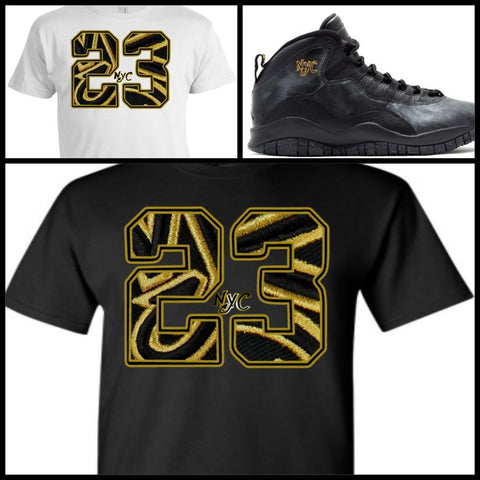 EXCLUSIVE SHIRT to match the NIKE AIR JORDAN X 10 NYC! 23 NYC