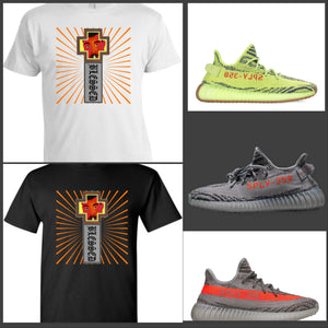 "EXCLUSIVE TEE/T-SHIRT to match the ADIDAS YEEZY BOOST 350 V2 BELUGA BELUGA 2.0 OR FROZEN YELLOW ""BOOST MODE V2"""