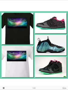 EXCLUSIVE SHIRT to match the NIKE SB DUNK or FOAMPOSITE NORTHERN LIGHTS!