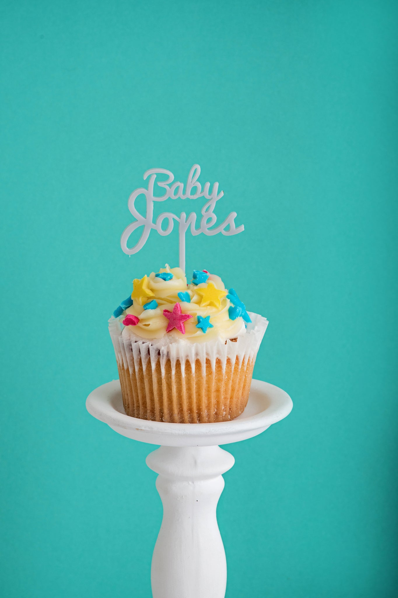 Pack of 5 Personalised Baby Cupcake Toppers