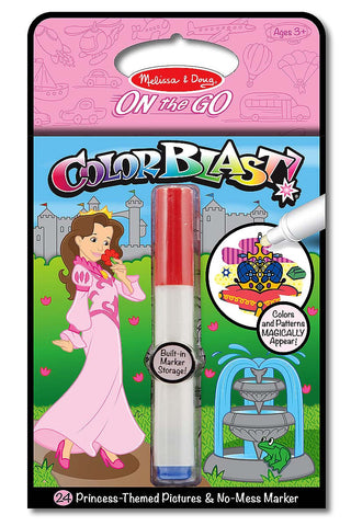 Princess Color Blast! - On the Go Travel Activity book - Little Me Little You