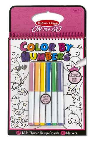 On the Go - Color By Numbers Book - Pink - Little Me Little You