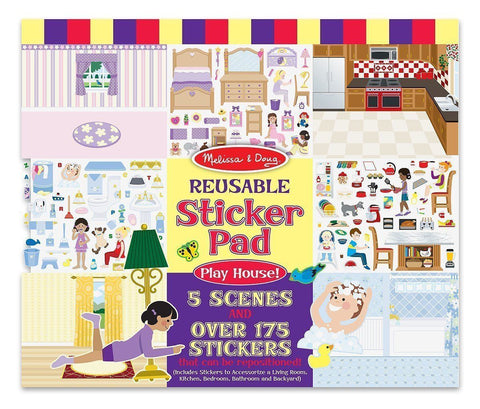Reusable Sticker Pad - Play House - Little Me Little You