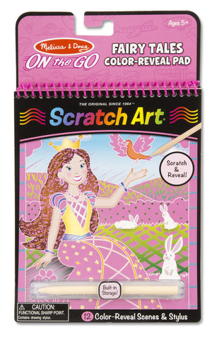 On the Go Scratch Art: Color-Reveal Pad - Fairytales - Little Me Little You