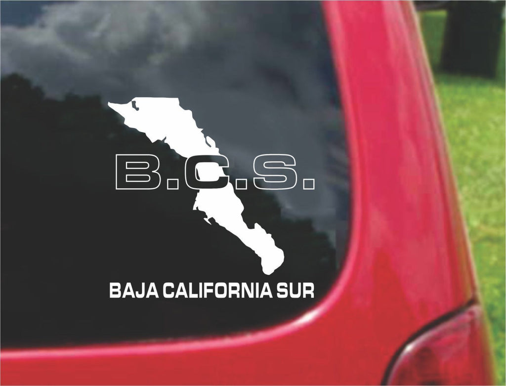Baja California Sur Mexico Outline Map Sticker Decal 20 Colors To Choose From.