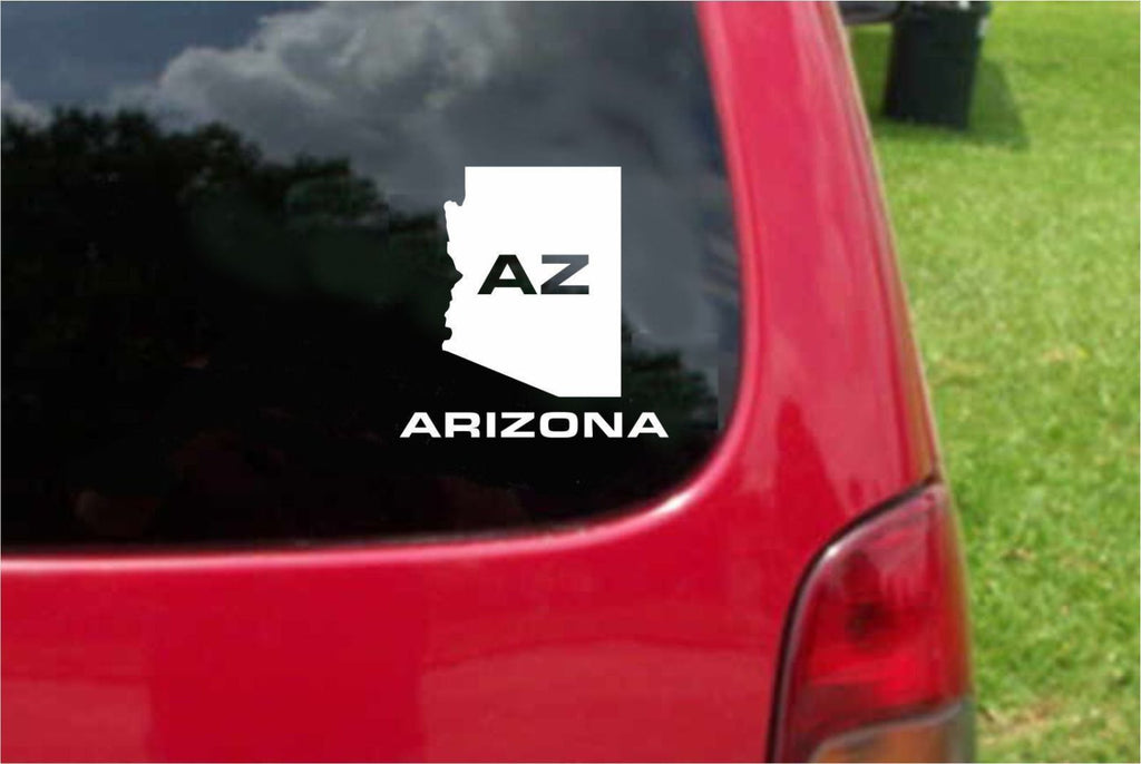 Arizona AZ State USA Outline Map Sticker Decal 20 Colors To Choose From.