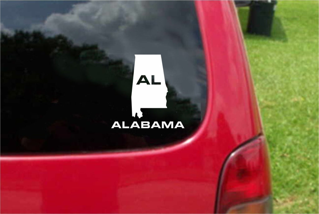 Alabama AL State USA Outline Map Sticker Decal