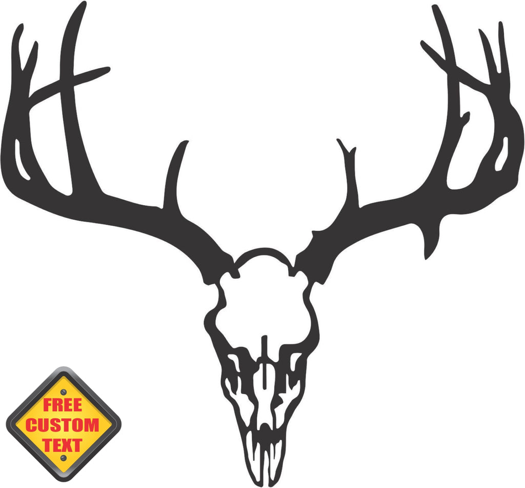 Deer Skull Hunting Sticker Decal 20 Colors To Choose From.