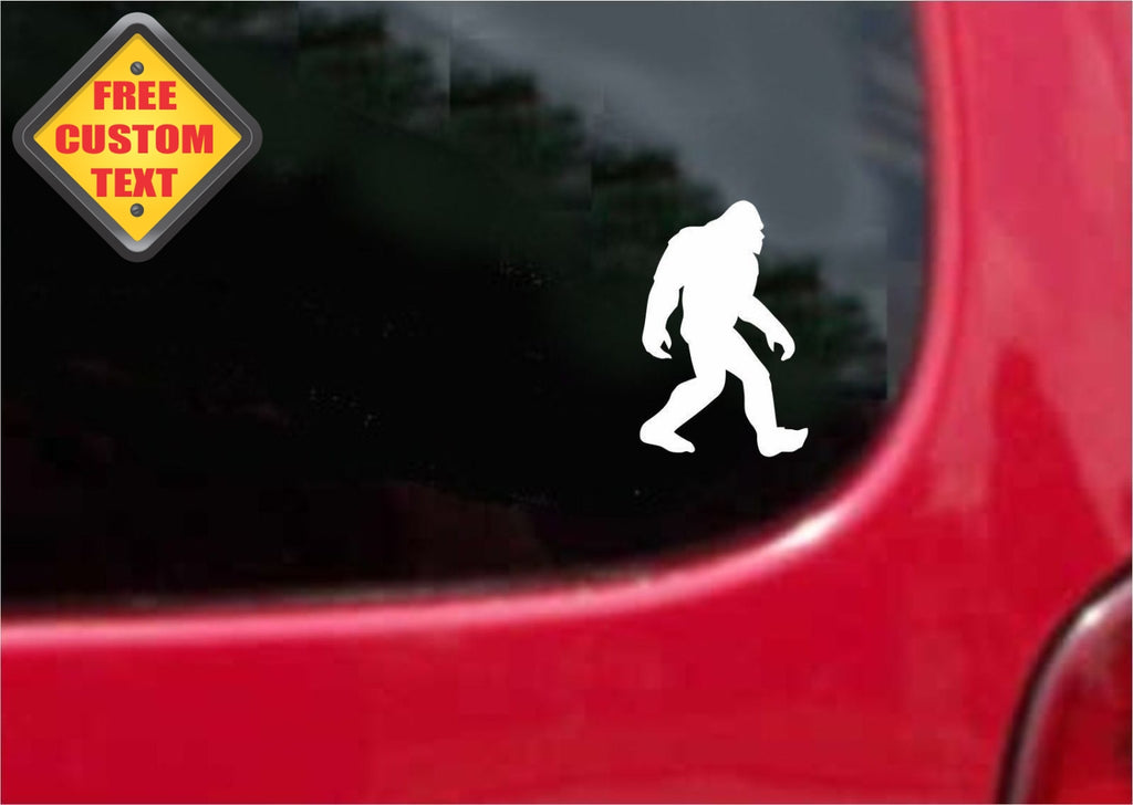 Big Foot Sticker Decal 20 Colors To Choose From.