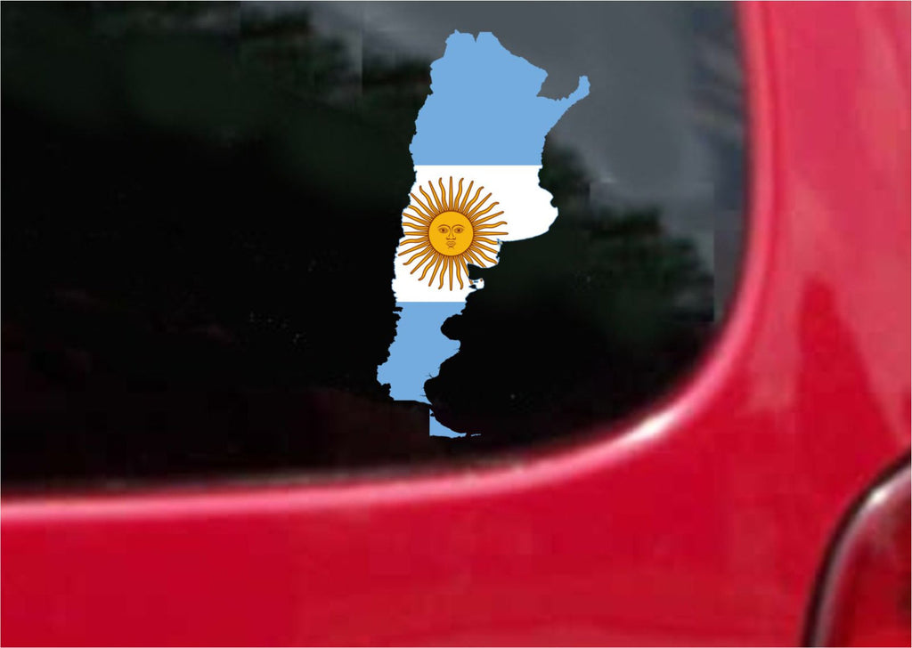 Argentina Outline Map Flag Vinyl Decal Sticker Full Color/Weather Proof.