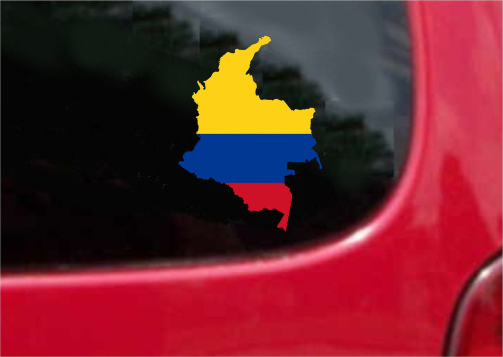 Colombia Outline Map Flag Vinyl Decal Sticker Full Color/Weather Proof.