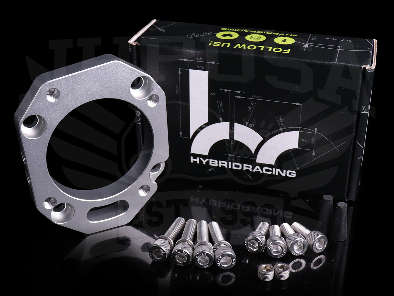 Hybrid Racing 70mm RBC Throttle Body Adapter Plate - K-series