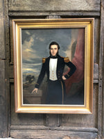 Mid 19th c  oil on board of Captain Joseph Edye RN and his wife