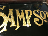19th c reverse painted glass sign