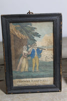 Pair of 18th century naval engravings of a sailor and sweetheart - SOLD