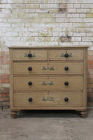 19th century English chest of drawers in original paint