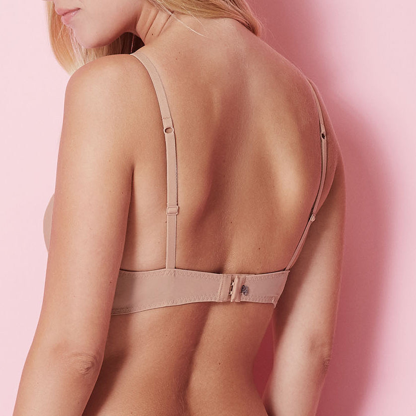 Simone Perele Délice push up t-shirt bra Nude Cup A - F back view