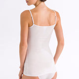 Ultralight spaghetti top back, White