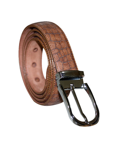 Leather Laser Cut C&C Royal Brown Belt