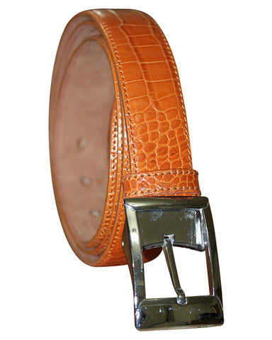 C&C Aligator Tan Leather Belt