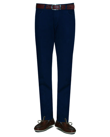 Pure Cotton Solid Navy TW Jeans Twill