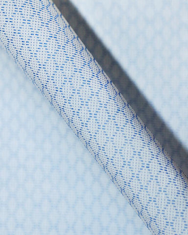 Pure Egyptian Cotton Blue Textured Shirt F.17.0889