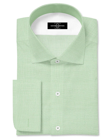 Pure Egyptian Cotton Solid Green Shirt F.17.0958