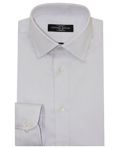 Pure Cotton Light Lilac Formal Shirt