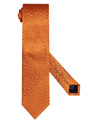 Pure Silk Diamond Apricot Orange Tie
