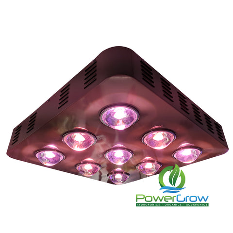 LED Grow Light - PowerGrow 900W Full Spectrum Dimmable COB LED