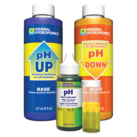 General Hydroponics pH UP & DOWN Control Kit - pH Adjustment & Testing Kit