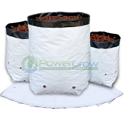 Grow Bags - Black & White Heavy Duty Bags