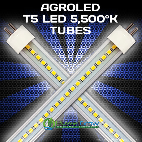 AgroLED® iSunLight® - LED T5 Bulbs - Full Spectrum VEG 5,500°K LED Grow Bulbs