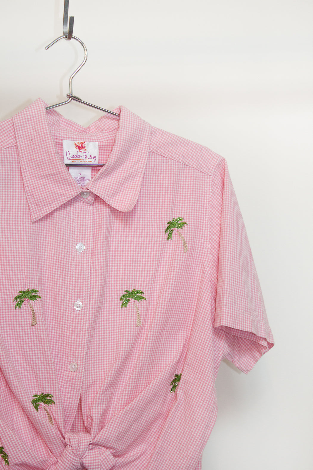 Vintage Beaded Palm Shirt